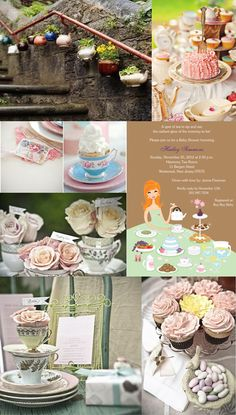 Tea Party Wedding or Baby Shower Inspiration