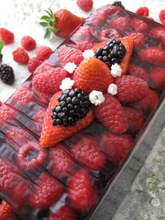 AIP / Paleo fruit terrine with berries - No bake dessert / A Squirrel in the Kitchen