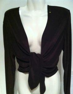 New CHICOS 1 Tied Front Slinky Shirt Jacket Sz M 8/10 | eBay