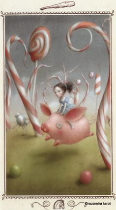 Nicoletta ceccoli, candy forest, knight of wands