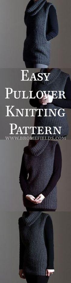 Super easy pullover knitting pattern!