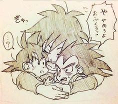 Gine Raditz and Goku