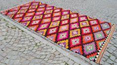 "LONG one Anatolian Turkish Classic Antalya Kilim 71"" x 151"" Hand Woven Area Rug Carpet | eBay"