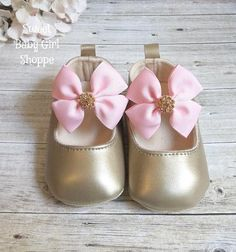 Pink and Gold Baby Shoes Pink and Gold First Birthday Pink