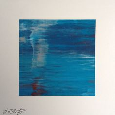 #730 | square abstract painting (original) | acrylic on white board | size approx. 9,5 x 9,5 cm | boardsize 15 x 15 cm | http://quadrART.kunstweber.com