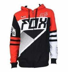 #FOX #Felpa #MTB in Pile con Cappuccio RACER Rosso €86.69