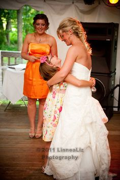 This little girl just wanted a hug from the bride... no dancing. http://linnealizphotography.com