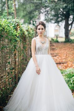 Princess ballgown | Of Ethereal Beaded Gowns and Rustic Grazing Tables: A Styled Shoot