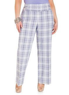 77d2b0e0c85 Plaid Wide Leg Pants. Plus Size BlousesPlus Size TopsBugStylish PlusPlus  Size PantsAshley StewartCurvy ...