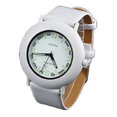 """Como Unisex White Faux Leather Band Round Dial Quartz Watch by Como. $8.17. Package : 1 x Quartz Watch. Product Name : Quartz Watch;Fit for : Unisex. Band Color : White;Band Material : Faux Leather. Case Material : Stainless Steel & Metal;Case Size : ~1 5/8 x 1/4""""(Dia.* T). Band Size : ~7 1/2"""" x 3/4"""" (L*W);Net Weight : 36g. Description:Perforated faux leather Band for perfectly fit.Round dial with three hands and Arabic numerals indicating time.Knob on one side for adjusting time."""