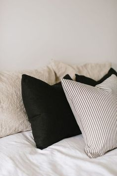 linen duvet & shams. NEUTRALS AND NAVY :)   A. W. T. B.