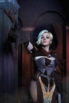 Mercy Witch Overwatch Halloween cosplay costume
