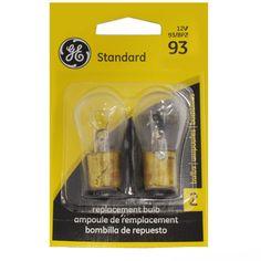 GE 93 - 13w 6.8v BA15s S8 Automotive Lamp - 2 Bulbs