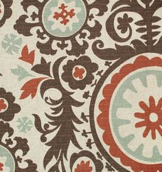 Suzani Nile / Denton | Online Discount Drapery Fabrics and Upholstery Fabric Superstore!