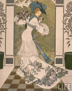 Georges de Feure (real name Georges Joseph van Sluijters, 6 September 1868 – 26 November was a French painter, theatrical designer, and industrial art designer in the symbolism and Art Nouveau styles. Art And Illustration, Girl Illustrations, Design Art Nouveau, Art Design, Art Français, Jugendstil Design, Inspiration Art, Art Moderne, Belle Epoque