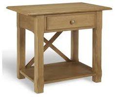 Simple Bedside Table solid oak corner telephone cabinet storage unit plant stand 100