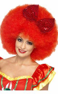 Clown Circus Afro Fancy Dress Yellow Pop Wig