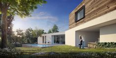 Beautiful architectural rendering by Real Light 3D , via Behance
