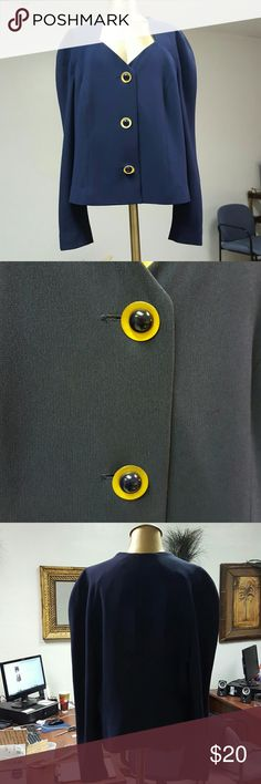 Navy Blue Jacket Great condition, Navy Blazer. No lining. Gold and blue colored buttons. Liz Claiborne Jackets & Coats Blazers
