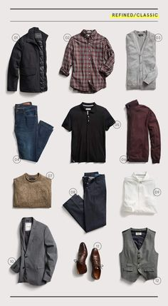 2019 Closet Essentials for Every Style Stitch Fix Men is part of Hipster mens fashion - There's only room for the best when building a functional wardrobe We detail 12 essentials for achieving the ultimate baseline closet―regardless of your personal style Capsule Wardrobe Casual, Mens Wardrobe Essentials, Professional Wardrobe, Men's Wardrobe, Travel Wardrobe, Men's Business Outfits, Business Casual, Style Casual, Style Men