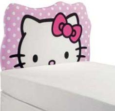 Hello Kitty Pink Polka Dot Head Shaped Headboard Set $59.48
