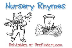 Nursery Rhyme Printables- to use through the month of April until May 1st- Mother Goose Day.