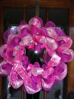 Breast Cancer Wreath @Brendia Condra Cookston Condra Cookston