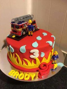 ideas fire truck birthday party ideas cake fireman sam for 2019 Firefighter Birthday Cakes, Fireman Birthday, Fireman Party, 3rd Birthday Cakes, Fire Engine Cake, Fireman Sam Cake, Truck Cakes, Cakes For Boys, Fire Truck