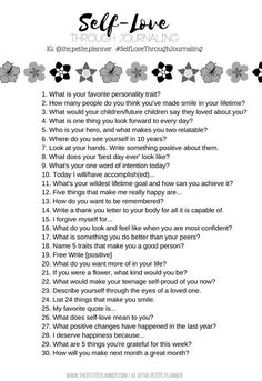 Learn to love yourself with these 30 days of self-love journaling prompts. Write to the prompt each day to create positivity in your life. Journal Writing Prompts, Journal Prompts For Teens, Gratitude Journals, August Journal Prompts, Journal Entries, Journal Questions, Learning To Love Yourself, How To Love Yourself, Finding Yourself