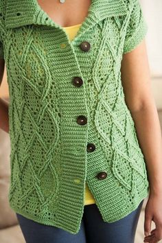 I love the deep crochet ribbing and crochet cables. Blueprint Crochet Sweaters: Cabled Crocheted Coat
