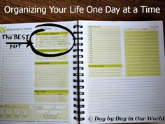 Organizing Your Life One Day at a Time using the 7 Minute Life Daily Planner #review