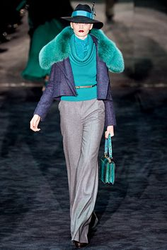 The colors that were on the Gucci runway were to die for. Also, the hats. #fall2011 #fashion  #gucci