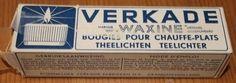 Oude verpakking van Verkade waxinelichtjes. Sweet Memories, Childhood Memories, Vintage Packaging, The Old Days, Do You Remember, Good Old, Retro Vintage, The Past, Old Things