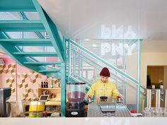 PNY Restaurant in the Marais, Paris by CUT Architectures | photo © David Foessel. http://www.yatzer.com/pny-hamburgers-marais-cut-architectures
