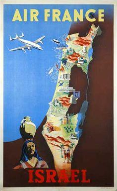 """Air France Israel""  1949"