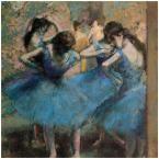 24 in. x 24 in. Dancers in Blue, 1890 Canvas Art