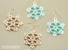 Crystal Beaded Snowflake Earrings Tutorial: Crystal Snowflake Materials