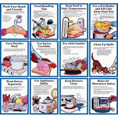 Don't Get Hurt in the Kitchen! Posters ~ Posters ~ Food Safety