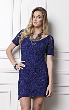Vestido Motivos Azul