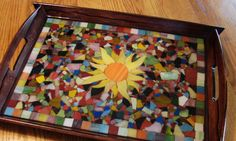 Mosaic Stained Glass Serving Tray