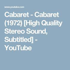 Cabaret - Cabaret (1972) [High Quality Stereo Sound, Subtitled] - YouTube