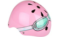 Kiddimoto Pink Goggle Kids Helmet