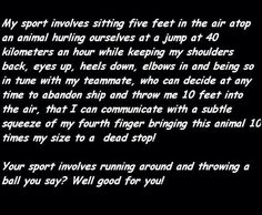 My sport..