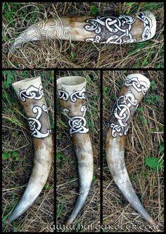 Germanic Art Work on Animal Horns ...