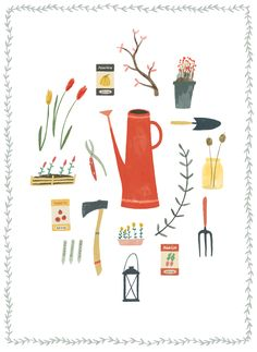 """ruby-taylor: """" An illustration for the latest Oh Comely magazine for an article about a beautiful private garden in London. You can read the Gardener's blog here - its lovely! """""""