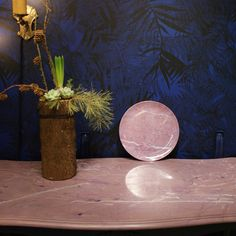 Faux marble painted with Chalk Paint. Inspiration from The plate