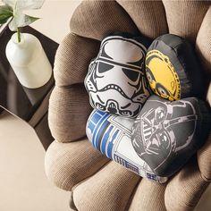 Almofadas de Star Wars. Decoração nerd/geek. Stormtroomper, R2D2