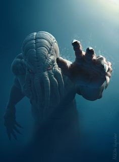 Want to discover art related to cthulhu? Check out inspiring examples of cthulhu artwork on DeviantArt, and get inspired by our community of talented artists. Hp Lovecraft, Lovecraft Cthulhu, Cthulhu Art, Arte Horror, Horror Art, Horror Movies, O Kraken, Desenhos Harry Potter, Dragons