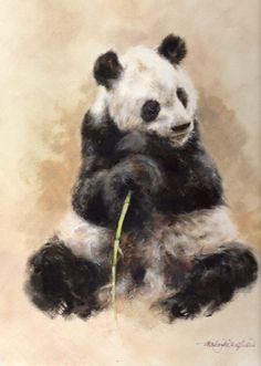 David shepherd art for survival shop : artwork detail panda Panda Love, Cute Panda, Cute Animal Videos, Cute Animal Pictures, Zoo Animals, Cute Baby Animals, Survival Shop, Panda Art, Animal Illustrations