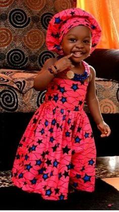 Gorgeous Ankara Fashion and Styles - Wedding Digest NaijaWedding Digest Naija African Dresses For Kids, African Babies, African Children, African Women, Girls Dresses, African Inspired Fashion, Africa Fashion, African Attire, African Wear